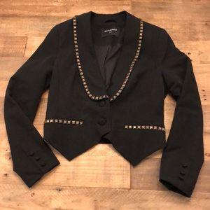 Jackets & Blazers - Black blazer with bronze accents